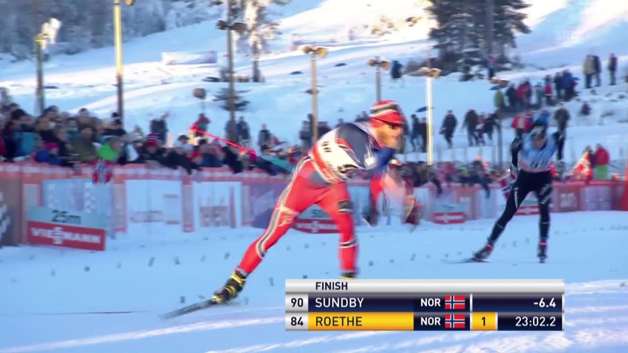 Ski nordisch: Langlauf-Weltcup in Lillehammer, Zieleinlauf Livers