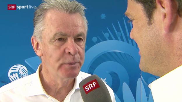 Video «FIFA WM 2014: Interview mit Ottmar Hitzfeld» abspielen