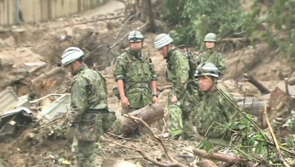 Japanische Armee hilft bei Suche