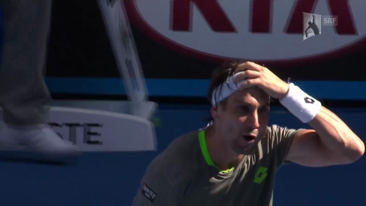 Tennis: Australian Open 2014, Achtelfinal, Ferrer-Mayer