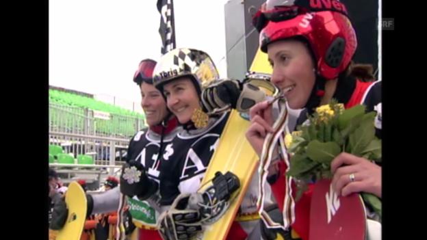 Video «Snowboard: Ursula Bruhin gewinnt WM-Gold im Parallel-Slalom» abspielen