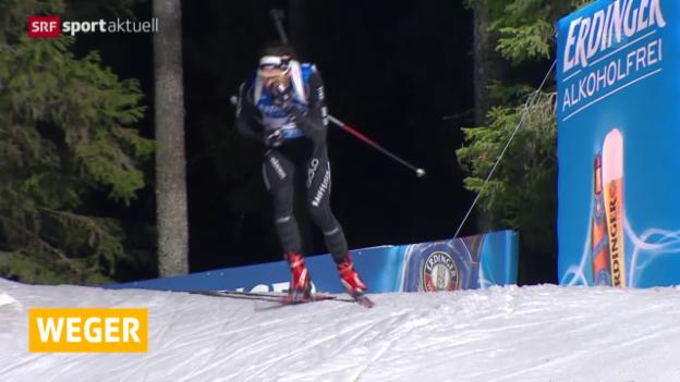 Video «Biathlon: Sprint Oberhof («sportaktuell», 10.1.2015)» abspielen