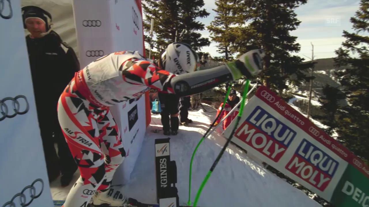 Ski: WM 2015 Vail/Beaver Creek, Super-G Männer, die Fahrt von Hannes Reichelt