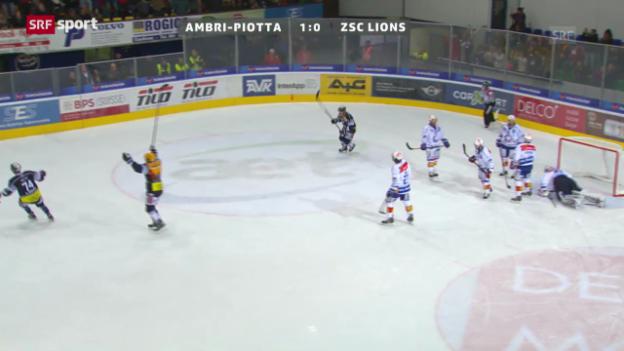 Video «NLA: Zusammenfassung Ambri - ZSC («sportaktuell»)» abspielen