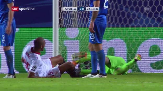 Video «Sevillas Kantersieg gegen Zagreb» abspielen