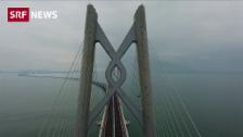 Link öffnet eine Lightbox. Video Mit dem Auto von Hongkong aufs Festland nach Macau abspielen