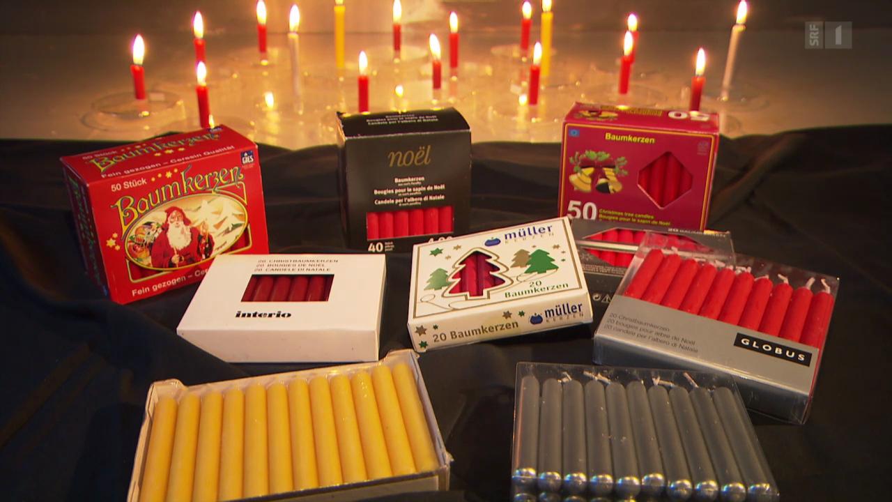 Christbaum-Kerzen im Test: Teure brennen nicht besser