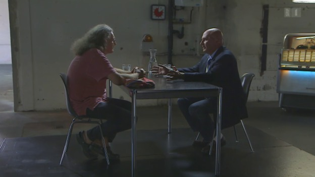 Video «Liedermacher Linard Bardill trifft Milieuanwalt Valentin Landmann» abspielen
