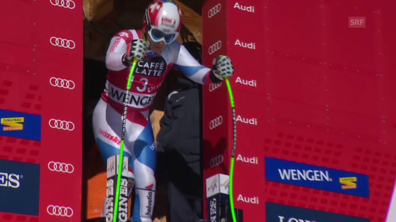 Ski: Patrick Küngs 1. Trainingsfahrt in Wengen