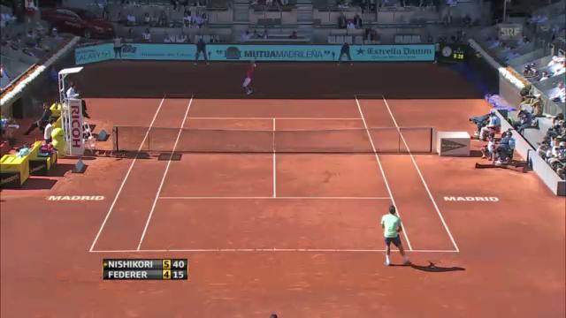 ATP Madrid: Federer - Nishikori («sportaktuell»)