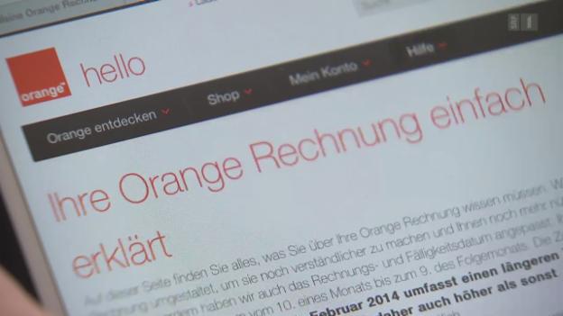 Video «15.04.14: Immer kürzere Zahlungsfristen: Orange verärgert Kunden» abspielen