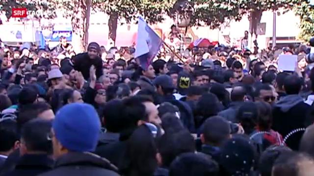 Heftige Proteste in Tunesien