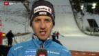 Video «Skispringen: Simon Ammann nach dem Heimspringen» abspielen