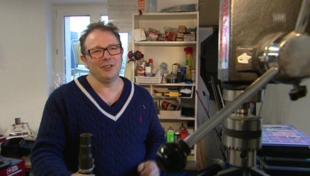 Video «Im Atelier von Stefan Heuss» abspielen