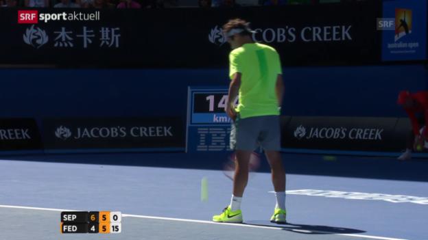 Video «Tennis: Australian Open Zusammenfassung Feder - Seppi («sportaktuell»)» abspielen