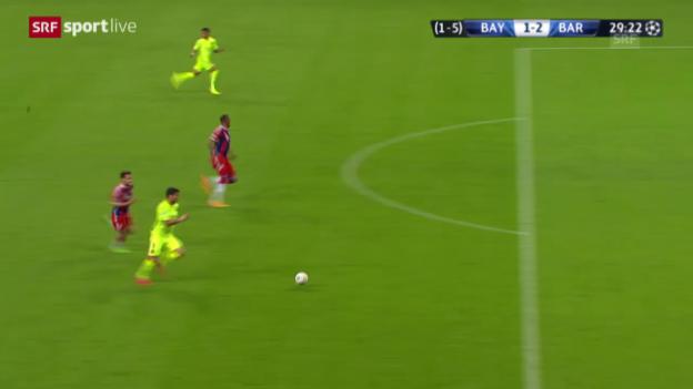 Video «Fussball: Champions League 2014/15, Halbfinal, Rückspiel, Bayern - Barcelona» abspielen