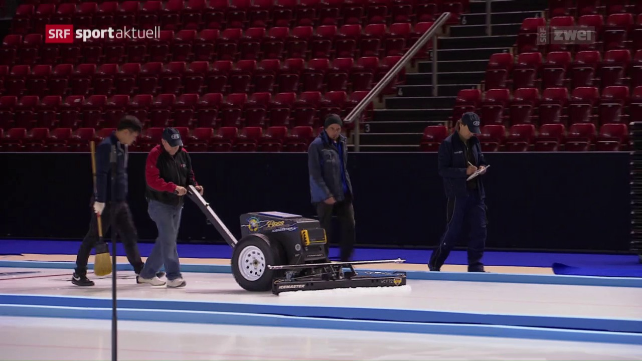 Einblicke des Curling-Eismeisters