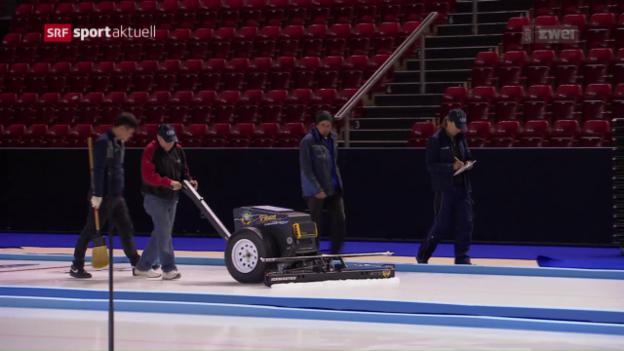 Video «Einblicke des Curling-Eismeisters» abspielen