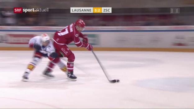 Video «Lausanne setzt Siegesserie gegen die Lions fort» abspielen