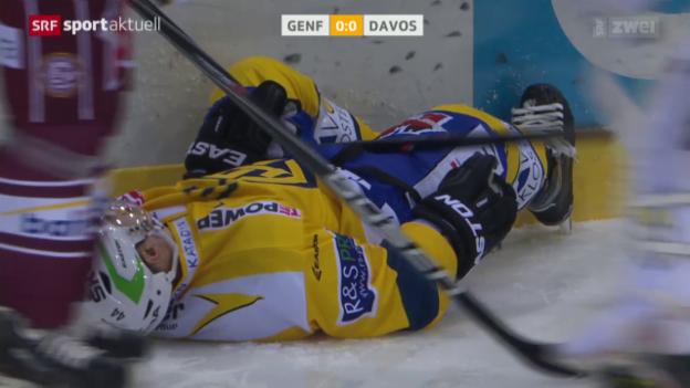 Video «Eishockey: Genf-Davos, Ausfall Koistinen» abspielen
