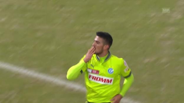 Video «Fussball: Frank Feltschers Tore im Cup» abspielen