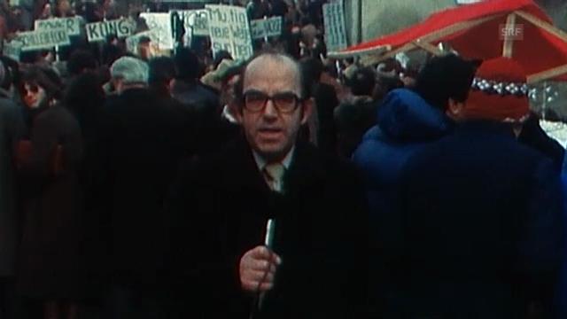 Hans Küng verliert die Lehrererlaubnis (SRF Archiv, 22.12.1979)