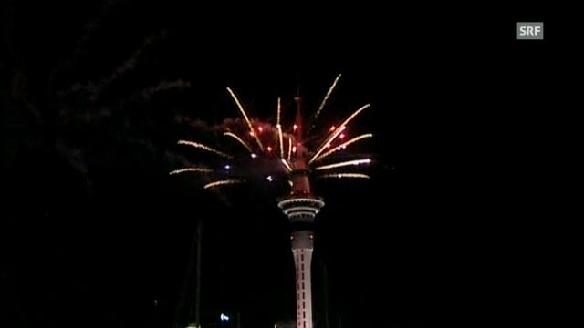Feuerwerk in Auckland (unkommentiert)