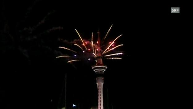 Video «Feuerwerk in Auckland (unkommentiert)» abspielen