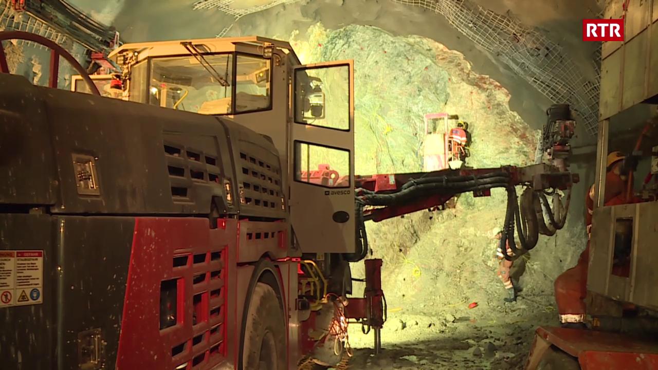 Il tunnel dal sviament da Silvaplana è en plaina construcziun.