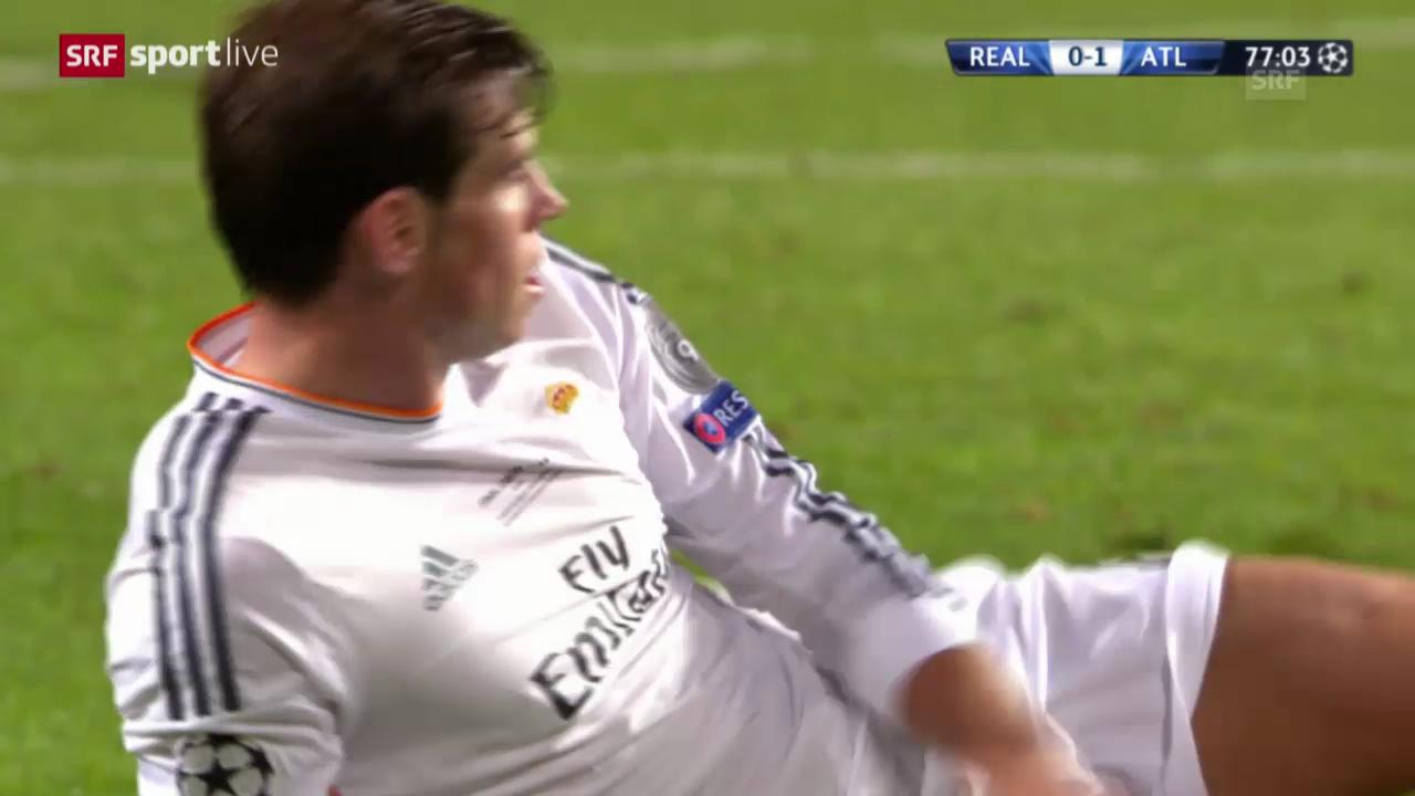 Fussball: CL-Final 2014, Real-Atletico, Gareth Bales Chancen und sein Tor
