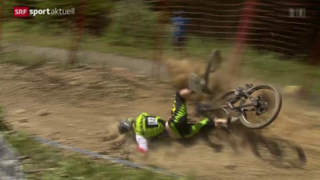 Video «Mountainbike: Weltcup Lenzerheide, Downhill» abspielen