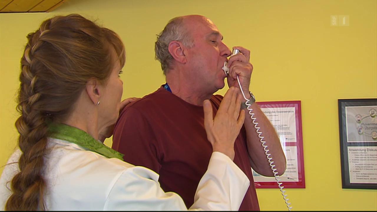 Falsche Asthma-Inhalation