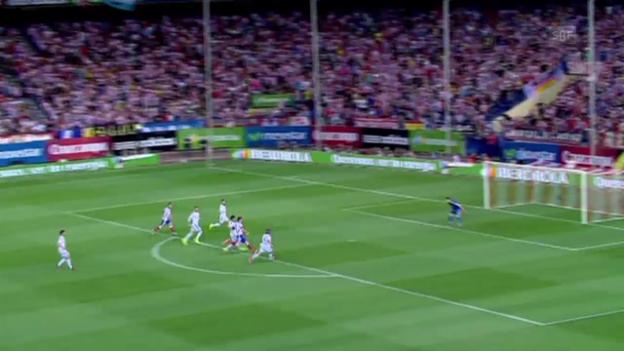 Video «Fussball: Super Cup Spanien, Atletico Madrid - Real Madrid, das Tor von Mario Mandzukic» abspielen