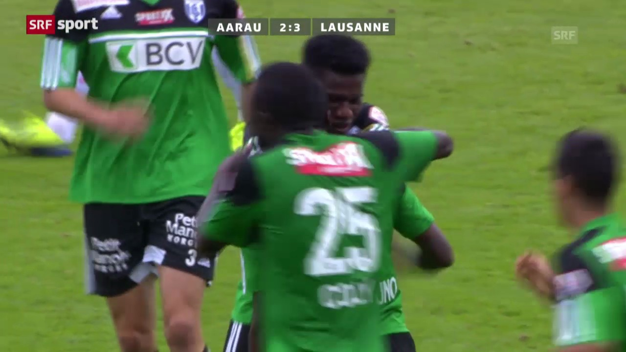 Spielbericht Aarau-Lausanne («sportpanorama»)