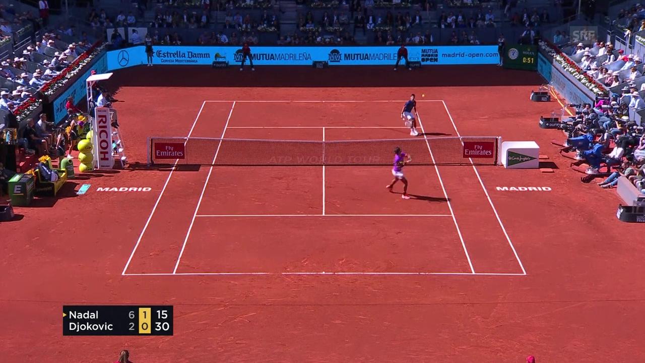Nadal zeigt mal wieder seinen genialen Rückwärts-Smash (SNTV)