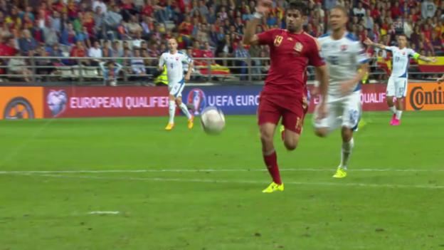 Video «Fussball: EM-Quali, Gruppe C, Spanien - Slowakei» abspielen