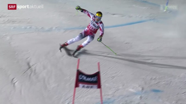 Video «Ski Alpin: Riesenslalom der Männer in Are» abspielen