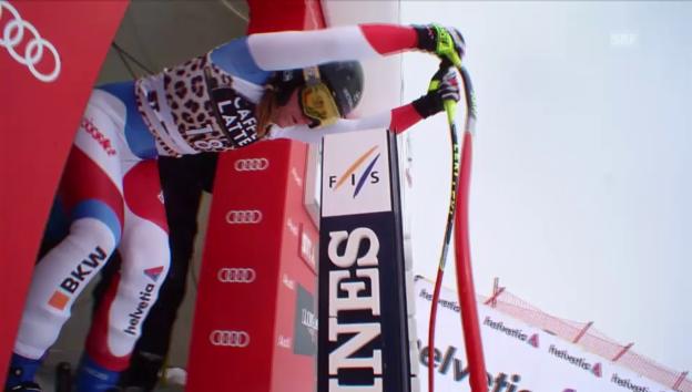 Video «Fabienne Suter fährt in St. Moritz auf's Podest (Archiv)» abspielen