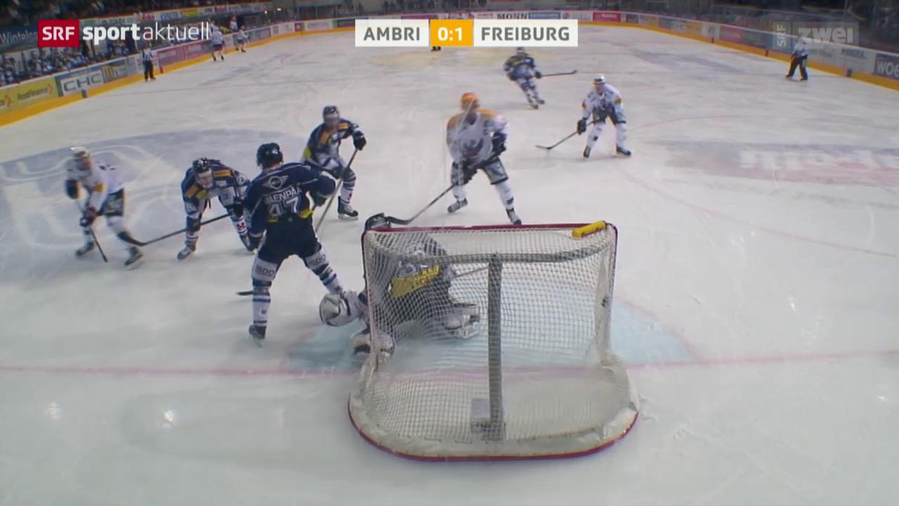 Eishockey: NLA, Ambri - Freiburg