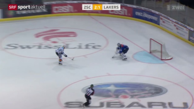 Video «Eishockey: ZSC Lions - Rapperswil-Jona-Lakers» abspielen