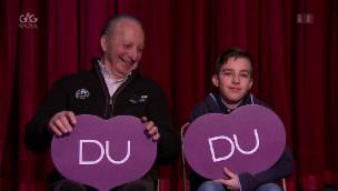 Video «Grossvater vs. Enkel: Franz und Brian Nock im «Ich oder Du»» abspielen