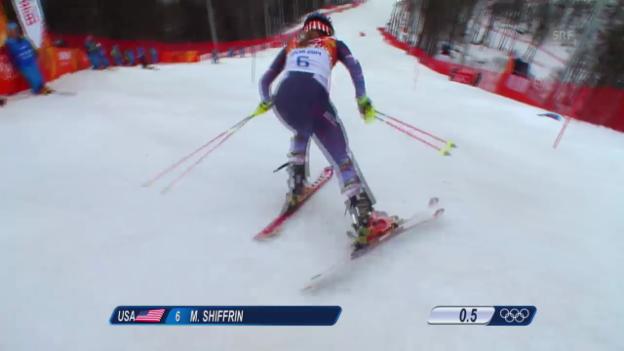 Video «Ski alpin: 1. Lauf von Mikaela Shiffrin (sotschi direkt, 21.02.2014)» abspielen