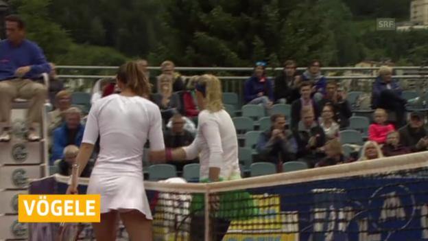 Video «Tennis: Vögele scheitert in Bad Gastein im Viertelfinal» abspielen