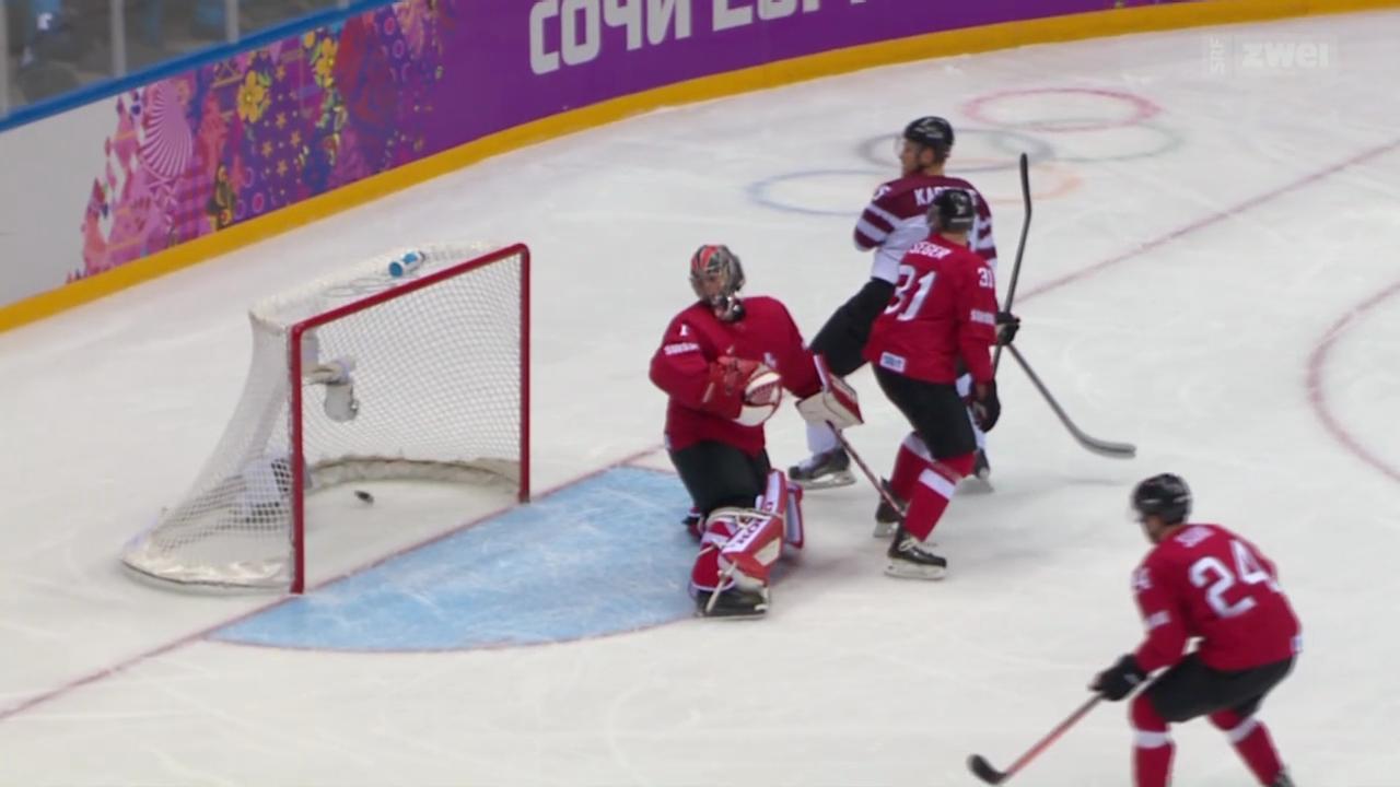 Eishockey: Die Schweiz verliert gegen Lettland