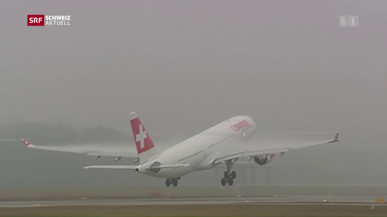 Gerade Südstarts am Flughafen Zürich
