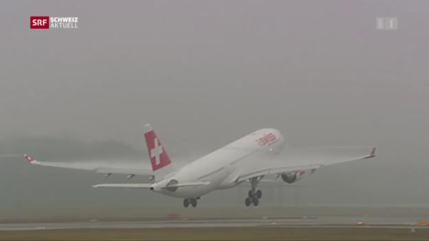 Video «Gerade Südstarts am Flughafen Zürich» abspielen