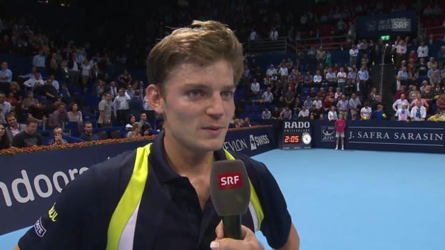 Video «Tennis: Swiss Indoors, Halbfinal, Platzinterview Goffin» abspielen