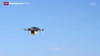 Video «Bald kommt das «Päckli» mit der Drohne geflogen» abspielen