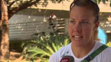 Video «Skifferin Gmelin: «Müssen immer mit dem härtesten Wasser kämpfen»» abspielen