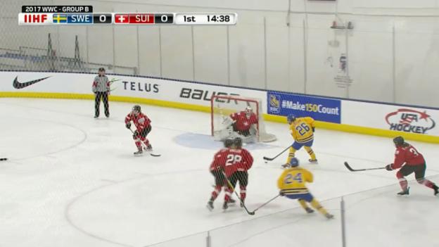 Video «Schweiz unterliegt Schweden» abspielen
